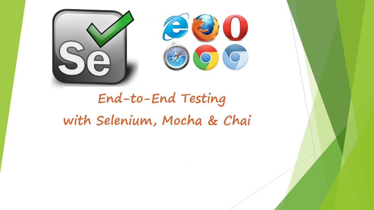 End to End Javascript testing with Selenium, Mocha and Chai